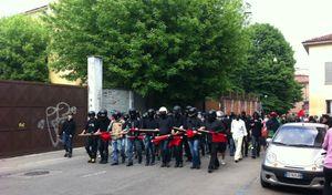 Manifestazione centri sociali Cremona