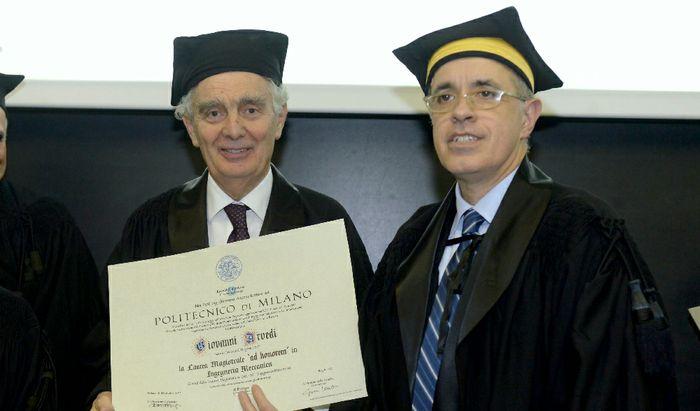 Conferimento della laurea honoris causa in ingegneria a Giovanni Arvedi