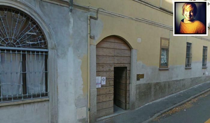 La sede Arci di via Speciano. Nel riquadro, Elena Orlandi, editor e redattrice de Lo Spazio Bianco