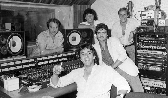 La formazione degli Hot Dogs nel 1985