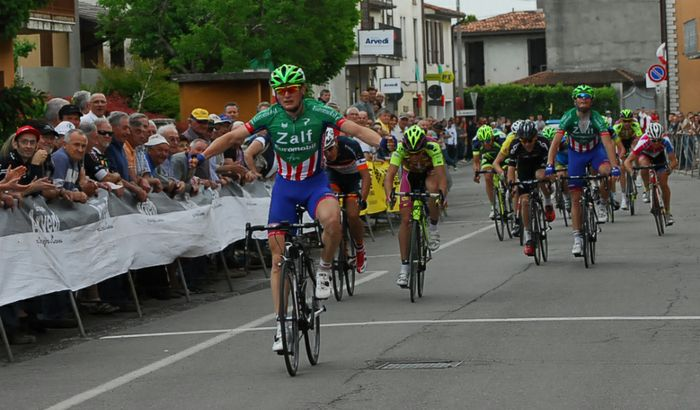 Ciclismo, Coppa Ardigò 2014 - Nicola Rossi sul traguardo