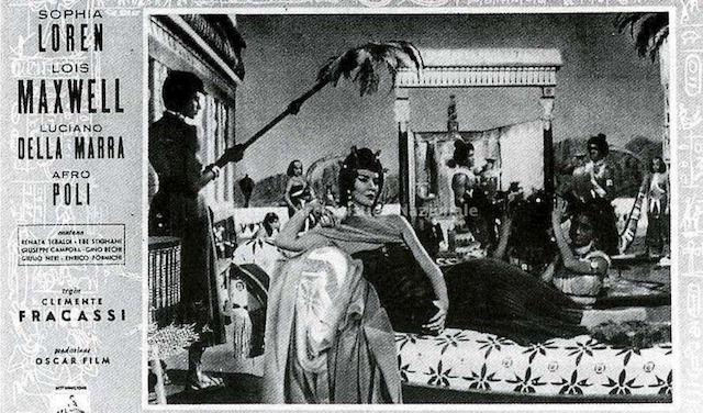 Sophia Loren in Aida - Il manifesto
