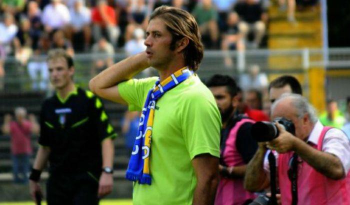 Alessio Tacchinardi sulla panchina del Pergo