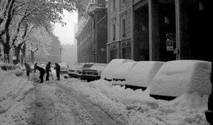 La grande nevicata dell'85, trent'anni fa la città sottozero