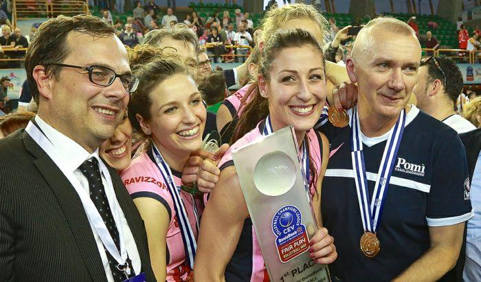 Boselli, Cambi, Tirozzi e Barbolini coccolano il trofeo