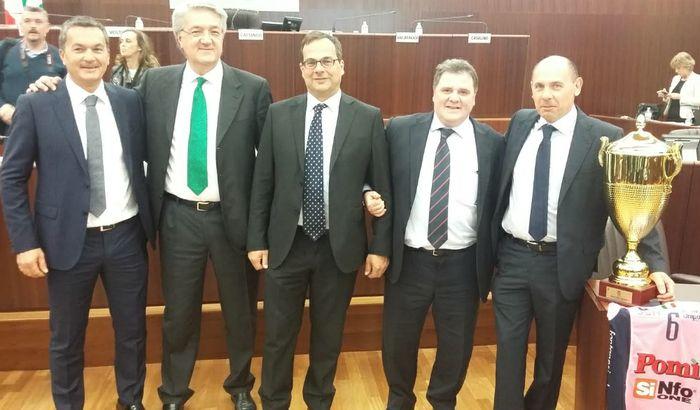 Da sinistra, Vaia, Lena, Boselli, Malvezzi e Voltini