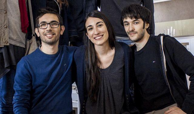 Wastad team: da sinistra, Davide Federici, Nastassya Carretti, Luca Sperlari