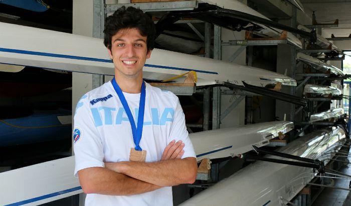 Marcello Caldonazzo (Baldesio) con il bronzo europeo