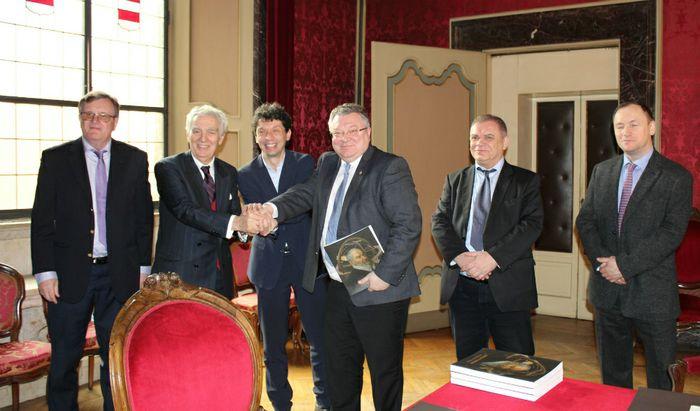 Delegazione dell'Università di S. Pietroburgo ricevuta in Comune