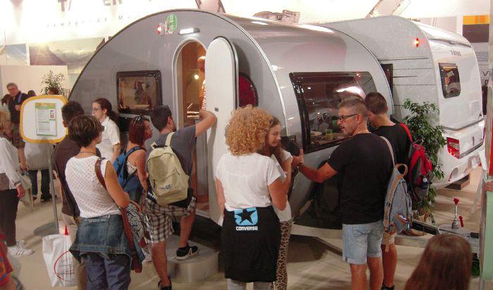 Una caravan al Salone del Camper di Parma