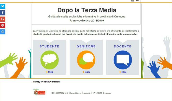 Orientamento scolastico - Nuova guida interattiva