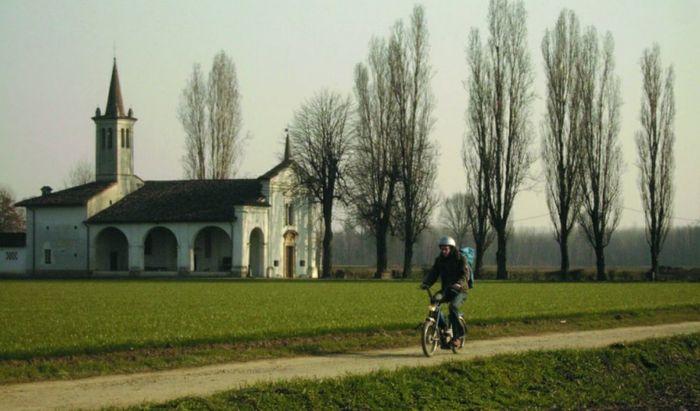"""Una scena del film """"Il primo giorno d'inverno"""" di Mirko Locatelli (2008) girato nelle campagne di Moscazzano"""