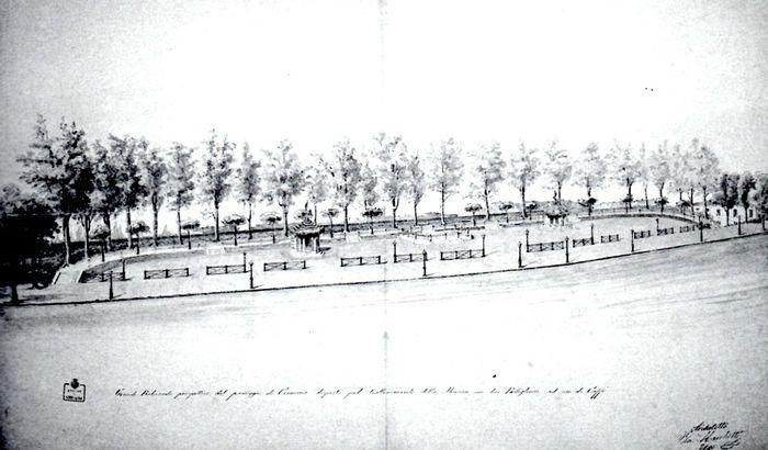 Progetto del Vecchio Passeggio di Cremona sui baluardi delle antiche mura