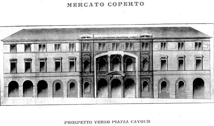 Il progetto del mercato coperto avanzato da Garibotti nel 1918