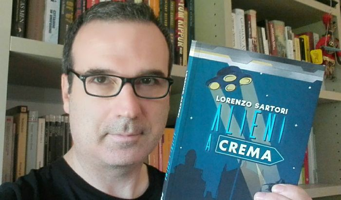 Lo scrittore Lorenzo Sartori