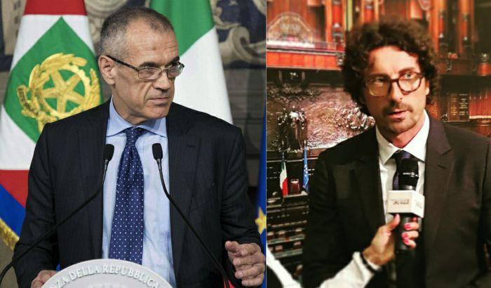 Carlo Cottarelli e Danilo Toninelli