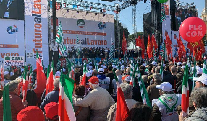 La manifestazione #futuroallavoro di Roma