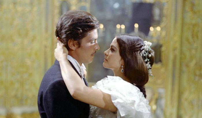 Cardinale e Delon ne Il Gattopardo di Luchino Visconti