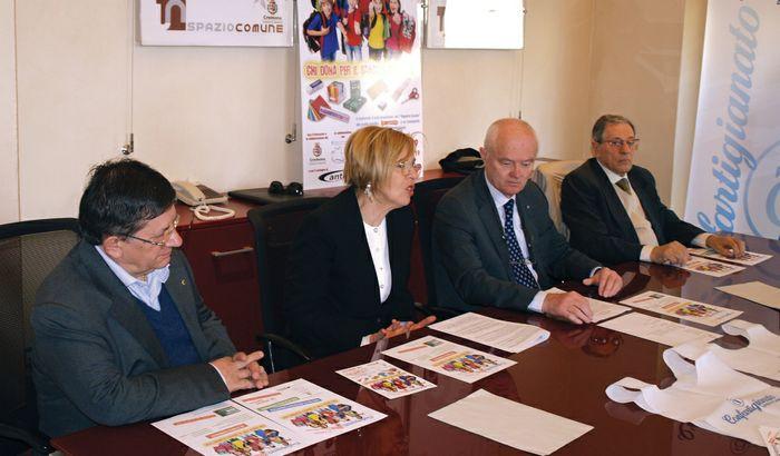 Da sinistra Fanti, Ruggeri, Bartoletti e Cantini