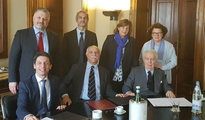 Giovanni Arvedi, Fabio Rugge, Gianluca Galimberti, Virginia Villa e Luciana Arvedi