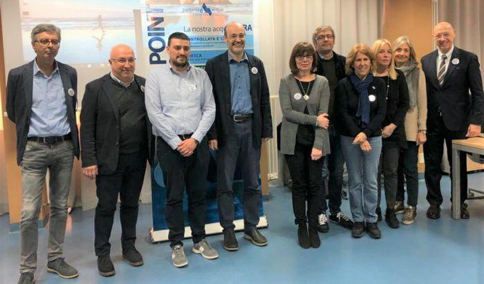 Foto gruppo professori con A.D. Alessandro Lanfranchi e Presidente Bodini