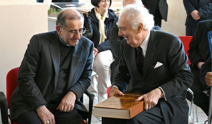 L'Arciversvoco Delpini con il Cav. Giovanni Arvedi