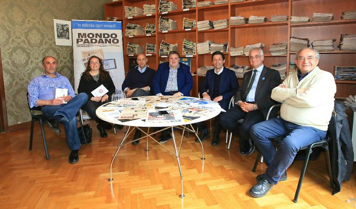 Candidati sindaco Cremona - Da sinistra, Madoglio, Berardi, Nolli, Malvezzi, Galimberti, Giovetti e Ratti