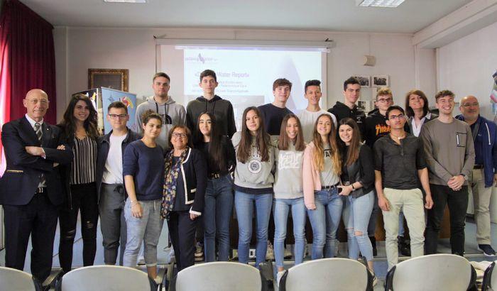 Foto di gruppo con la 4 D LSC Aselli 16 maggio 2019