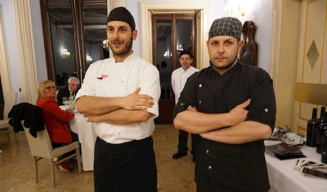 I CUOCHI DI VILLA BELUSSI  Giuseppe Zefferino (sx), Andrea Mariotti (dx)