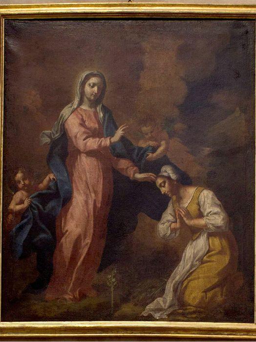 """Dipinto raffigurante """"Apparizione a Caravaggio della Madonna di Santa Maria del Fonte"""