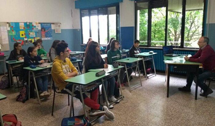 Alessandro Rossi, lezione di giornalismo a Grumello Cremonese