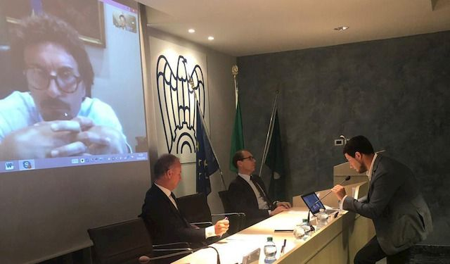 Danilo Toninelli in video conferenza con AIC