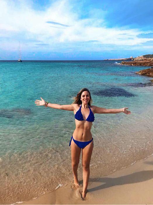 Claudia Cabrini a Ibiza