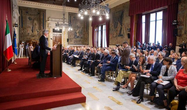 Un momento dell?incontro  che si è tenuto lo scorso 26 giugno presso la Sala Della Regina a Montecitorio, davanti al premier Giuseppe Conte e al Ministro del lavoro Luigi Di Maio,