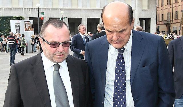 Luciano Pizzetti con Pierluigi Bersani
