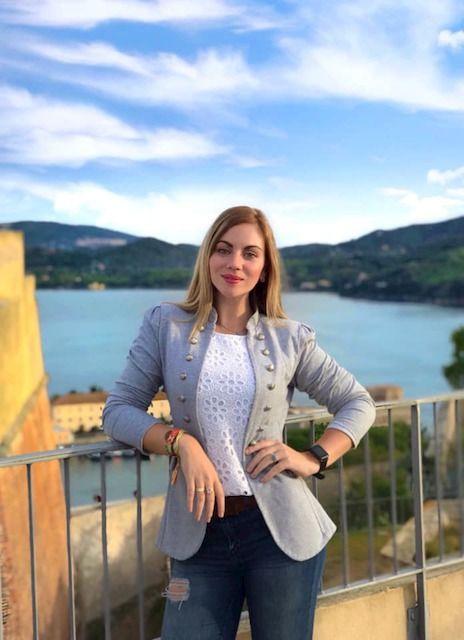 Claudia Cabrini all'Isola d'Elba