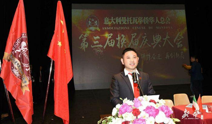 Francesco Lin Xufeng il giono della nomina a presidente dei cinesi di Mantova