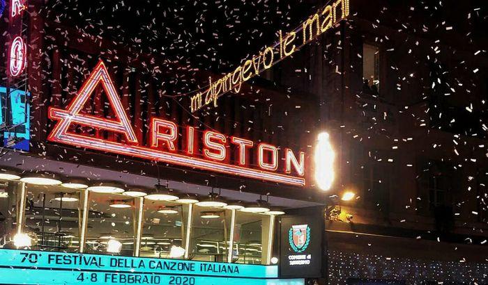 L'esterno dell'Ariston a Sanremo