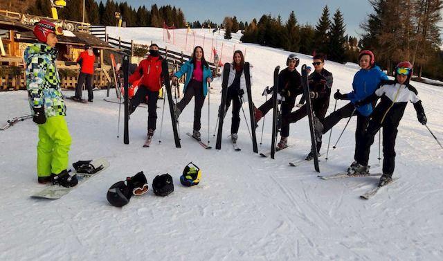 Ghisleri: scuola sulla neve Folgaria