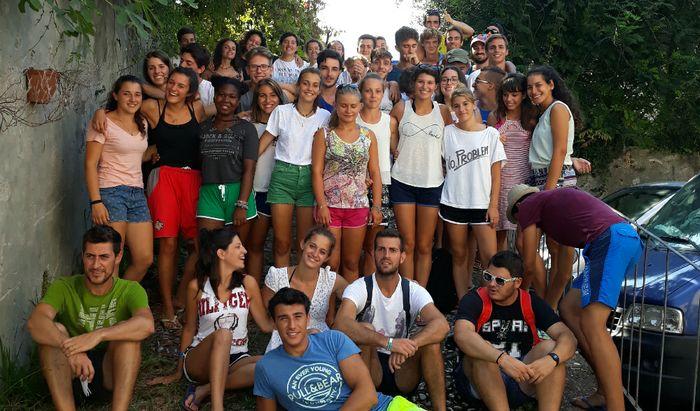 Samuele Lanzi e gli studenti del Vida