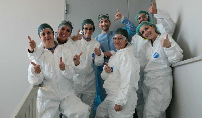 Operatori sanitari all'interno dell'Ospedale Maggiore di Cremona