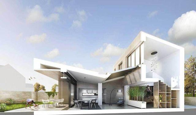 Un rendering di Passiv House