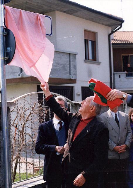 Gino Bartali scopre via intitolata a Belloni
