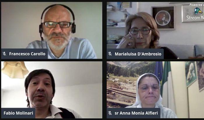 Francesco Carollo, Marialuisa D'Ambrosio, Suor Anna Monia Alfieri e Fabio Molinari