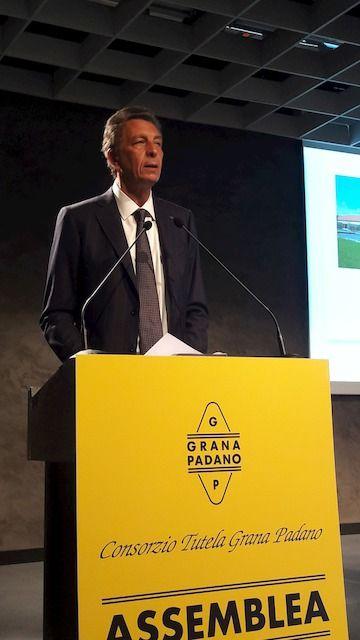 Nicola Cesare Baldrighi, presidente uscente di Grana Padano all'assemblea del 19 giugno
