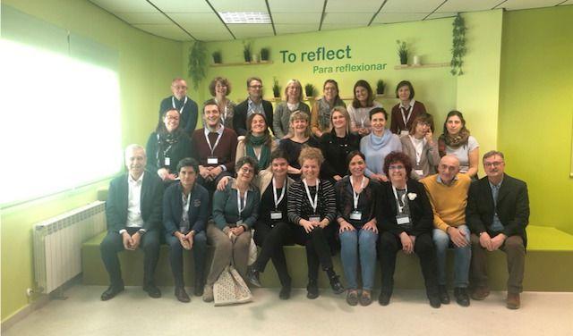 Foto di gruppo del progetto Erasmus in visita a Madrid nel novembre 2019.