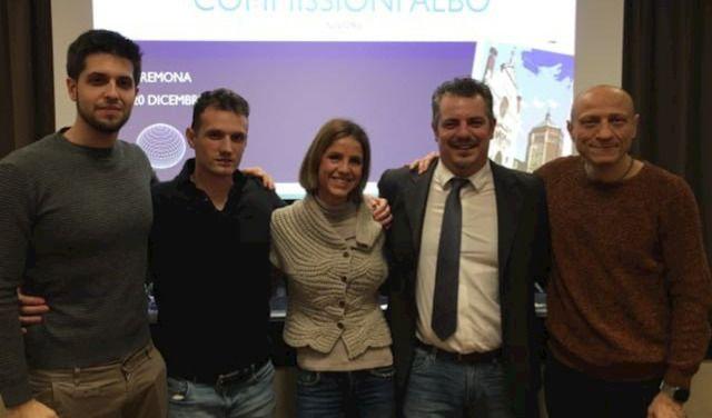 Fisioterapisti: La commissione d'albo di Cremona (in fila da sinistra a destra, Andrea Cicognini, Marco Masseroni e Chiara Beccaluva