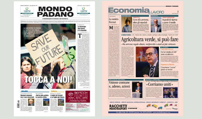 Mondo Padano prime pagine